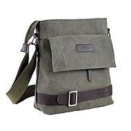 Men's Zipper Canvas Crossbody Bag Black / Army Green / Dark Blue