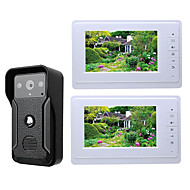 MOUNTAINONE SY819QA12 Wired Built in out Speaker 7 inch Hands-free One to Two video doorphone