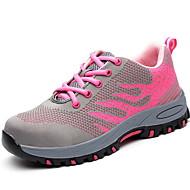 ราคาถูก -สำหรับผู้หญิง รองเท้ากีฬา ส้นแบน ปลายกลม ตารางไขว้ สำหรับวิ่ง ฤดูใบไม้ร่วง & ฤดูหนาว สีม่วง / สีชมพู