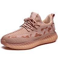 ราคาถูก -สำหรับผู้หญิง รองเท้ากีฬา ส้นแบน ปลายกลม ตารางไขว้ Sporty / ไม่เป็นทางการ ฤดูหนาว สีชมพูอ่อน