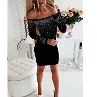 Women's Bodycon Dress - Solid Colored Black Blue Red S M L XL