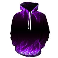 Men's Casual / Basic Hoodie - 3D Purple US32 / UK32 / EU40