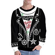 Men's Street chic / Christmas Sweatshirt - Print / Bird Black US32 / UK32 / EU40