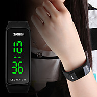 Dame damer Sportsklokke Armbåndsur Digital Watch Digital Mote Vannavvisende Quiltet kunstlær Svart / Blå / Rød Digital - Svart Rød Blå To år Batteri Levetid / Japansk / Kalender / Selvlysende