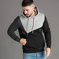 Men's Casual Hoodie - Color Block Black US32 / UK32 / EU40