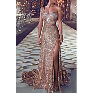 Women's Sheath Dress - Solid Colored Gold S M L XL