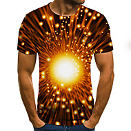 Men's Daily T-shirt - 3D Print Yellow
