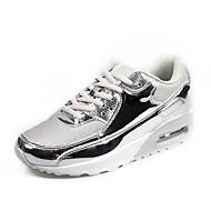 ราคาถูก -สำหรับผู้หญิง รองเท้ากีฬา ส้นแบน ปลายกลม ตารางไขว้ สำหรับวิ่ง ฤดูใบไม้ร่วง & ฤดูหนาว สีดำ / สีทอง / สีชมพู