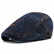 סתיו שחור פול כחול ים כובע כומתה (בארט) פסים פוליאסטר בסיסי בגדי ריקוד גברים