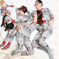 Family Look Animal Christmas Clothing Set White