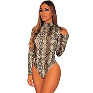 Women's Print Bodysuits Nightwear Leopard Black Brown S M L