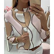 billige -Bluse Dame - Geometrisk Rosa
