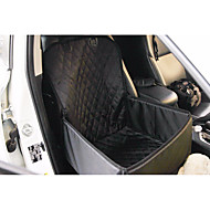 Dog Rabbits Cat Car Seat Cover Pet Carrier Waterproof Folding Classic Black / Oxford Fabric