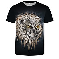 Men's Daily Club Street chic / Punk & Gothic T-shirt - Geometric / Color Block Print Black