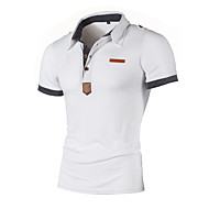 Men's Daily Sports Basic / Street chic Polo - Color Block Patchwork Black