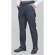 Men's Basic Suits Pants - Solid Colored Black Navy Blue US36 / UK36 / EU44 US38 / UK38 / EU46 US40 / UK40 / EU48