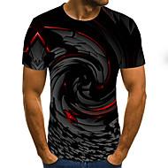 Men's Daily T-shirt - 3D / Rainbow Black