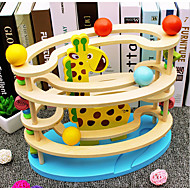 Marble Track Set Marble Run Steam Locomotive Creative Parent-Child Interaction Wooden Soft Plastic Kid's All Toy Gift