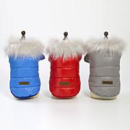 Perros Abrigos Invierno Ropa para Perro Rojo Azul Gris Disfraz Plumón Un Color Cosplay S M L XL XXL
