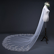 One-tier Antique / Sweet Style Wedding Veil Cathedral Veils with Paillette 157.48 in (400cm) 100% Polyester / Classic