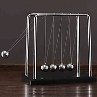 Newton Cradle Balance Ball Stress Reliever Educational Toy Gravity Type Metal Ornament Stress and Anxiety Relief Kid's Boys' Girls' Toy Gift 1 pcs