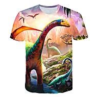 preiswerte -Kinder Baby Jungen Aktiv Street Schick Fantastische Tierwesen Dinosaurier Druck Kurzarm T-Shirt Gelb