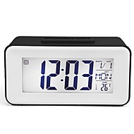 LCD Digital Wall Clock,Atomic Clock with Fold Out Stand,Battery Operated,Radio Controlled, Easy to Read Time,Date,Day of The Week and Temperature.