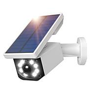 didseth solar falske ip kamera bevægelsessensor lys 800lumens 8 ledte solsikkerhedslamper med pir bevægelsesdetektion 2600mah udendørs vandtæt oversvømmelse med 3 belysningstilstand til indkørsel have