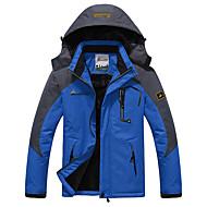 preiswerte -Herrn Skijacke warm halten Wasserdicht Windundurchlässig Skifahren Camping & Wandern Snowboarding 100% Polyester Winterjacken Skikleidung