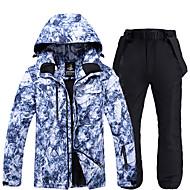 ARCTIC QUEEN Men's Ski Jacket with Pants Waterproof Windproof Warm Skiing Snowboarding Winter Sports POLY Eco-friendly Polyester Tracksuit Bib Pants Top Ski Wear