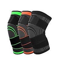 cheap -Knee Brace Knee Sleeve 3D Weaving for Running Basketball Fitness Antiskid Moisture Wicking Compression Adjustable Men's Women's Silica Gel Nylon Lycra Spandex 1 pc Sports Practice Gym Black Orange