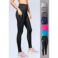 cheap -YUERLIAN Women's High Waist Yoga Pants Pocket Leggings Tummy Control Butt Lift 4 Way Stretch Dark Grey Black Fuchsia Spandex Fitness Gym Workout Running Sports Activewear High Elasticity Skinny