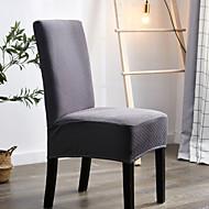 abordables -Housse de chaise étanche Housse de chaise en polyester imprimé de couleur unie Housse de chaise souple simple confortable