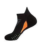 コンプレッションソックス スポーツソックス ランニングソックス 1ペア 男性用 女性用 靴下 アンクルソックス フィットネス、ランニング&ヨガ バクテリア対応 スポーツ ランニング スポーツ シンプル コットン ナイロン ブラック ブルー / 伸縮性あり