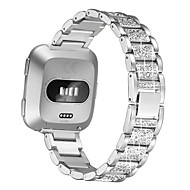 cheap -Watch Band for Fitbit Versa / Fitbit Versa 2 Fitbit Jewelry Design Stainless Steel Wrist Strap Diamond Band Metal