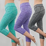 cheap -Women's High Waist Yoga Pants Capri Leggings Butt Lift Moisture Wicking Purple Fuchsia Sky Blue Cotton Gym Workout Running Fitness Sports Activewear High Elasticity Slim