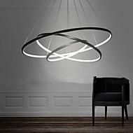 preiswerte -Lightinthebox 3-Licht 80/60/40 cm LED Pendelleuchten Metall Acryl Kreisförmig Lackierte Oberflächen Moderne zeitgenössische 110-120V / 220-240V