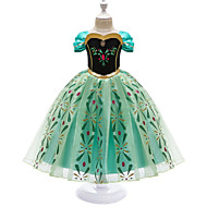 cheap -Kids Girls' Gowns Prom Wedding Party Geometric Dress Green