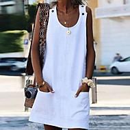Per donna Tubino Mini abito - Senza maniche Fantasia geometrica Elegante Bianco Blu Giallo Arancione S M L XL XXL XXXL XXXXL XXXXXL