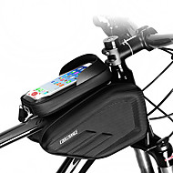 CoolChange Handy-Tasche Fahrradrahmentasche 6.0/6.2 Zoll Touchscreen Wasserdicht Doppelte IPouch Radsport für iPhone 7 iPhone 8 Plus / 7 Plus / 6S Plus / 6 Plus iPhone X Schwarz Geländerad