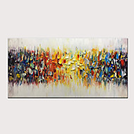 3D Hand-Painted Abstract Colorful Melody Oil Painting On Canvas Modern Artwork for Home Decor with Stretched Frame Ready to Hang