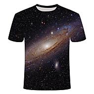 Ανδρικά Γεωμετρικό Μεγάλα Μεγέθη T-shirt Στάμπα Κοντομάνικο Καθημερινά Άριστος Βασικό Κομψό στυλ street Στρογγυλή Λαιμόκοψη Μαύρο