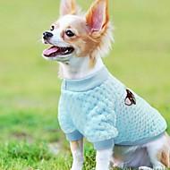 Kočka Pes Kabáty Zima Oblečení pro psy Hnědá Fialová Modrá Kostým polar fleece Ovoce cosplay Svatba S L
