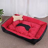 マルチカラーコットン犬猫用のかわいい箱形状ペットベッド70 * 52 * 15センチメートル/ 28 * 20 * 6インチ