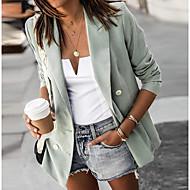 نسائي جاكيت مناسب للبس اليومي شق الصدر علوي عادية لون سادة أسود / أحمر / أخضر فاتح S / M / L