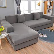 abordables -housse de canapé élastique simple couleur unie paquet complet unique double housse de canapé trois personnes multi couleur