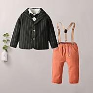 Kids Boys' Basic Print Long Sleeve Clothing Set Black