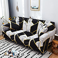 Nordic Geometric Contrast Elastic Sofa Cover Full Package Single Double Three Person Sofa Cover