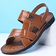 ราคาถูก -สำหรับผู้ชาย หนังหมู ฤดูร้อน รองเท้าแตะ ระบายอากาศ สีเหลือง / สีน้ำตาล / สีดำ