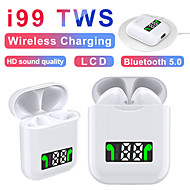 cheap -i99 Tws Mini Wireless Headset Bass Stereo Bluetooth Headset with Wireless Charging Function LED Power Display Touch Control Earbuds